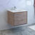 "30"" Rustic Natural Wood Cabinet with Sink Side View"