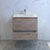 "30"" Rustic Natural Wood Cabinet with Sink Drawers Open"