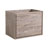 "30"" Rustic Natural Wood Cabinet Only Side View"