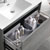 "36"" Ocean Gray Cabinet with Sink Top Drawer"