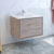 "36"" Rustic Natural Wood Cabinet with Sink Side View"