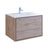 "36"" Rustic Natural Wood Cabinet with Sink Product View"