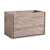 "36"" Rustic Natural Wood Cabinet Only Side View"