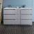 "60"" Gray Partitioned Cabinet with Sink Front View"