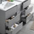 "60"" Gray Partitioned Cabinet with Sink Overhead View"