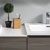 "60"" Gray Wood Partitioned Cabinet with Sink Top"