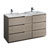 "60"" Gray Wood Partitioned Cabinet with Sink Product View"