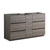 "60"" Gray Wood Partitioned Cabinet Only Side View"