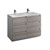 Glossy Ash Gray Double Cabinet with Sink Product View