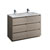 Gray Wood Double Cabinet with Sink Product View