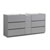"72"" Gray Partitioned Cabinet Only Side View"