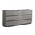 "72"" Glossy Ash Gray Partitioned Cabinet Only Side View"