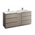 "72"" Gray Wood Partitioned Cabinet with Sink Product View"