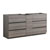 "72"" Gray Wood Partitioned Cabinet Only Side View"