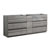 Glossy Ash Gray Cabinet Only Side View