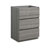"24"" Glossy Ash Gray Cabinet Only Side View"