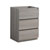 "24"" Gray Wood Cabinet Only Side View"