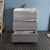 "30"" Glossy Ash Gray Cabinet with Sink Drawers Open"