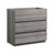 "36"" Glossy Ash Gray Cabinet Only Side View"
