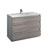 Glossy Ash Gray Single Cabinet with Sink Product View