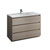 Gray Wood Single Cabinet with Sink Product View