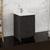 """24"""" Dark Gray Oak Cabinet with Sink Side View"""