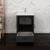 "24"" Dark Gray Oak Cabinet with Sink Drawer/Cabinet Open"