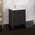 """30"""" Dark Gray Oak Cabinet with Sink Side View"""