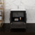 "30"" Dark Gray Oak Cabinet with Sink Drawers/Cabinet Open"