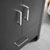 "30"" Dark Gray Oak Cabinet with Sink Handles"