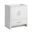 "30"" Glossy White Cabinet Only Side View"