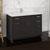 """48"""" Dark Gray Oak Cabinet with Sink Side View"""