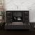 "48"" Dark Gray Oak Cabinet with Sink Drawers/Cabinet Open"