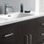 "48"" Dark Gray Oak Cabinet with Sink Close Up"