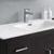 "48"" Dark Gray Oak Cabinet with Sink Basin"