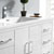 "48"" Glossy White Cabinet with Sink Basin"