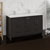 Dark Gray Oak Double Cabinet with Sinks Side View