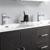 Dark Gray Oak Double Cabinet with Sinks Edge