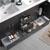 Dark Gray Oak Double Cabinet with Sinks Handles