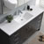 Dark Gray Oak Single Cabinet with Sink Overhead View
