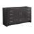 Dark Gray Oak Single Cabinet Only Side View