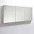 "Fresca 60"" Wide x 36"" Tall Bathroom Medicine Cabinet w/ Mirrors (3 Mirrored Doors), 59"" W x 5"" D x 36"" H"