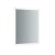 """24"""" x 30"""" Silver Vertical Hung Product View LED Lighting On"""
