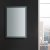 """24"""" x 36"""" Silver Vertical Hung LED Off Front View"""