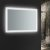 """24"""" x 36"""" Silver Hortizontal Hung Angle View LED On"""