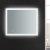"36"" x 30"" Silver Hortizontal Hung View LED Lighting On"