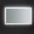 "48"" x 30"" Silver Hortizontal Hung View LED Lighting On"