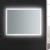 "48"" x 36"" Silver Hortizontal Hung View LED Lighting On"