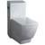 "Fresca Apus One-Piece Single Flush Square Toilet, Soft Close Seat, Elongated Bowl, 1.6 GPF Capacity, 15""W x 27""D x 31-3/4""H"