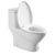 "Fresca Serena One-Piece Dual Flush Toilet, Soft Close Seat, Elongated Bowl, 0.8/1.6 GPF Capacity, 15-1/5""W x 27-8/9""D x 27-8/9""H"
